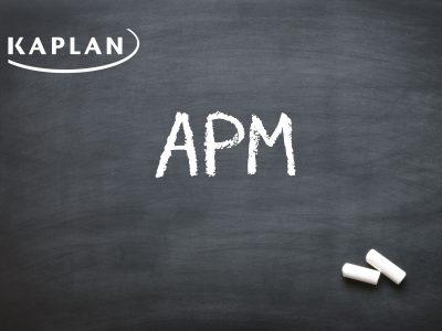 ACCA Advanced Performance Management (APM/P5) Evening Lectures